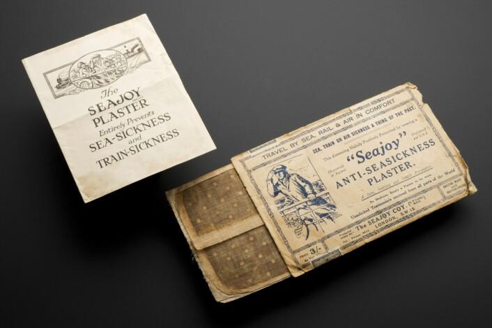 Morfin ble brukt til det meste. Blant annet brukte engelskmenn morfinet i plaster som skulle motvirke sjøsyke. Plasteret er datert tilbake til rundt 1928 - 1930.  (Foto: Welcome Images/Wikimedia)