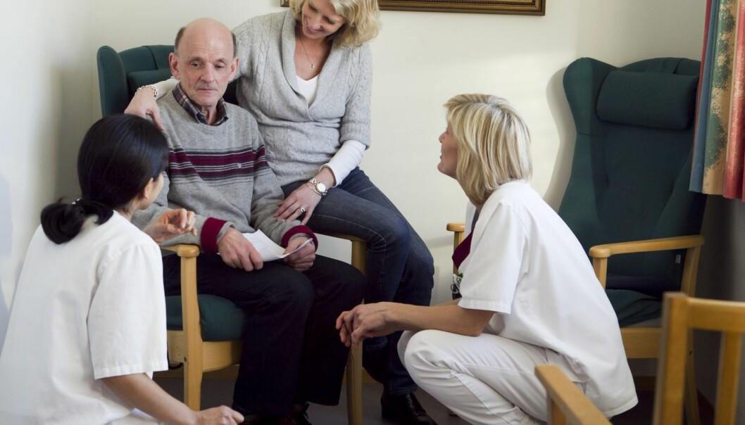 Totalt sett er nordmenn over 55 år mer fornøyde med helsetjenesten enn gjennomsnittet i 10 andre land. (Illustrasjonsfoto: Heiko Junge, NTB Scanpix)