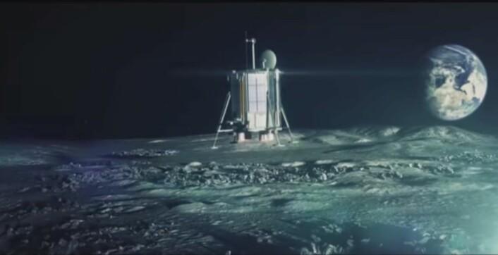 Skjermdump fra promo-video som viser Lunar Mission One på månens overflate. (Foto: (Bilde: Skjerdump))