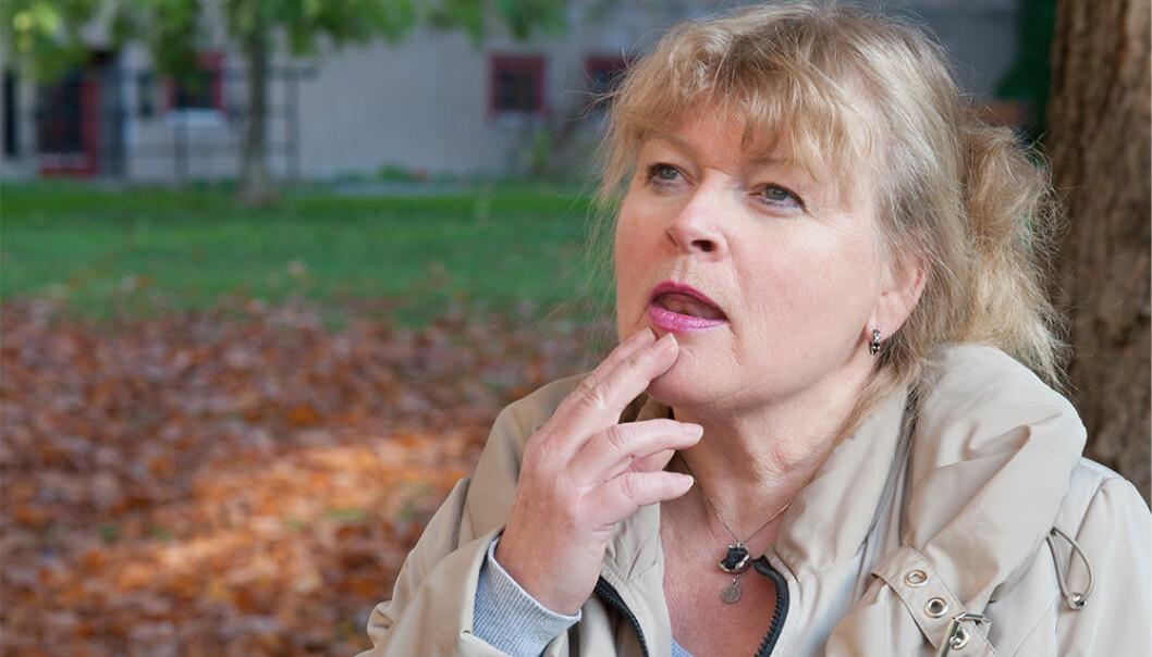 Noen ganger kan man være så tørr i munnen at tungen sitter fast i ganen, dersom man lider av Sjögrens syndrom. (Illustrasjonsfoto: Jan Unneberg, UiO/ OD)