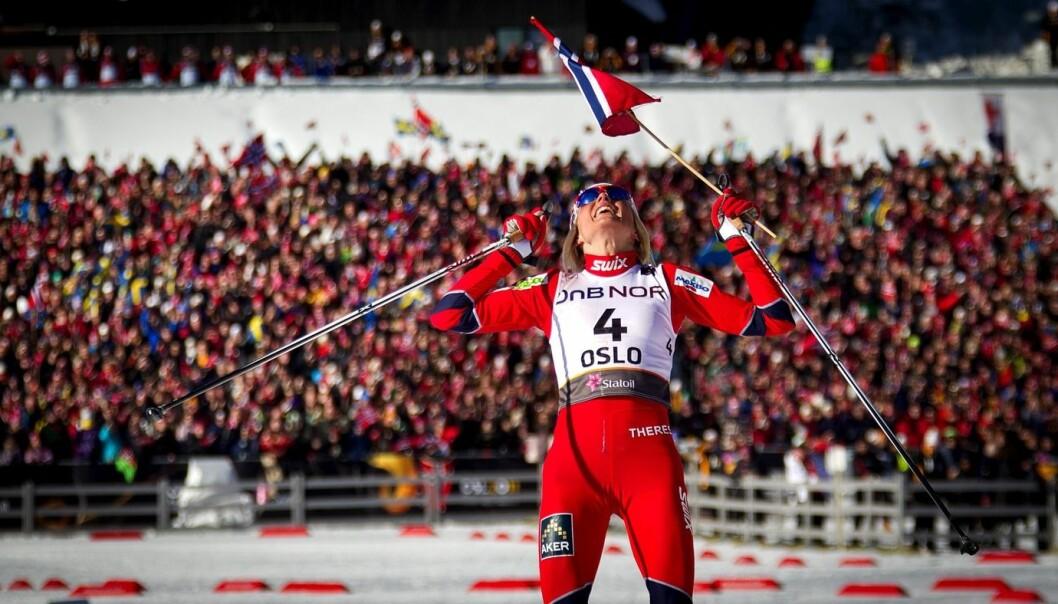 Dette får vi ikke oppleve i olympisk sammenheng: Therese Johaug som vinner 30 kilometeren på hjemmebane. Bildet er fra VM på ski i Oslo i 2011. (Foto: Scanpix, Dag W. Grundseth)
