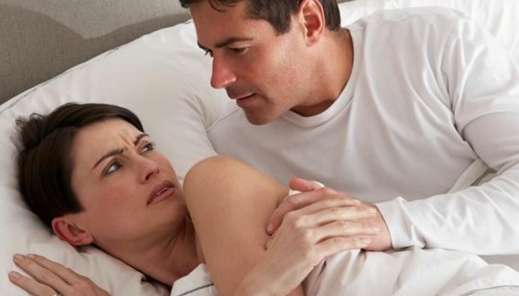 Kvinner som oppsøker hjelp for manglende sexlyst, oppgir at forandringen gjør dem fortvilet og engstelige, viser en dybdestudie. (Foto: Colourbox)