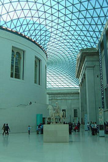 The Great Court i British museum ble åpnet av dronning Elizabeth II i 2000. Rommet ble designet av Foster and Partners.  (Foto: Wikipedia)