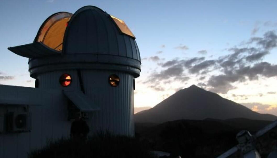 Et nytt teleskop er bygget på Izaña-fjellet i Teide nasjonalpark på Tenerife.  (Foto: Lise Brix)