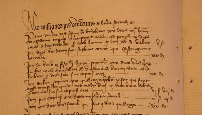 Forskerne har gått igjennom mange ulike dokumenter for å finne datoene for starten på druehøsten. Dette er en side fra regnskapet til Notre-Dame-kirka i Beaune, fra 1385. (Foto: Archives Départementales de la Côte d'Or, 2918/24, Thomas Labbé)