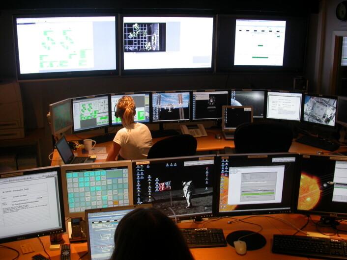Kontrollrommet ved CIRIS på NTNU (Foto: CIRIS/NTNU)