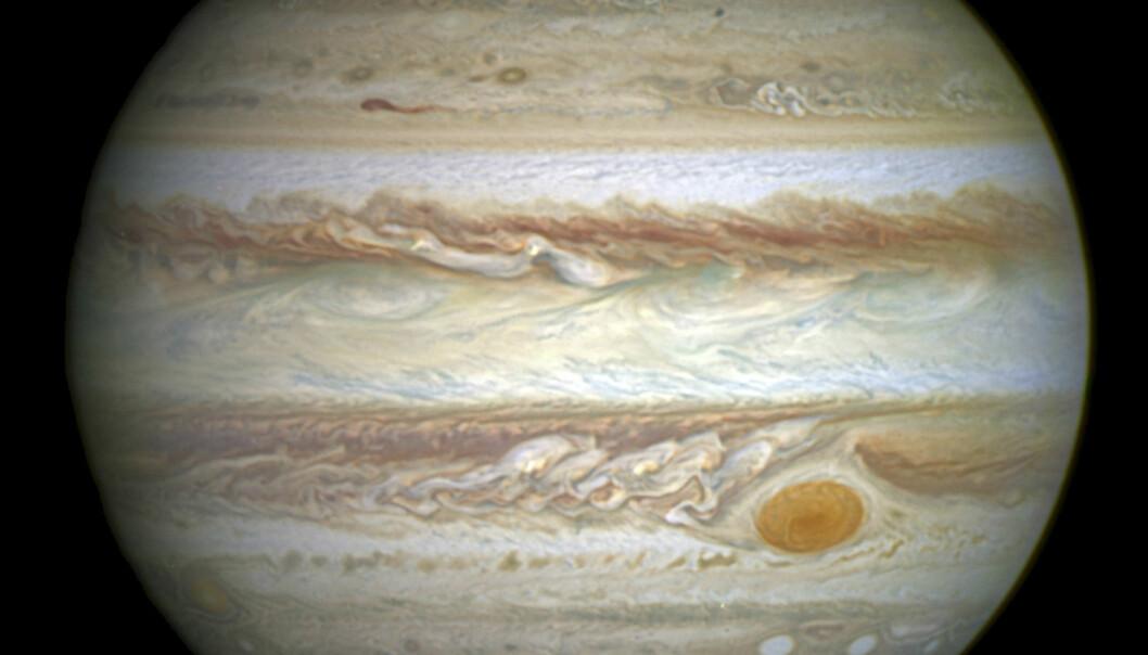 Vannet på jorda kan ha kommet med meteorer fra Jupiter. (Foto: NASA)