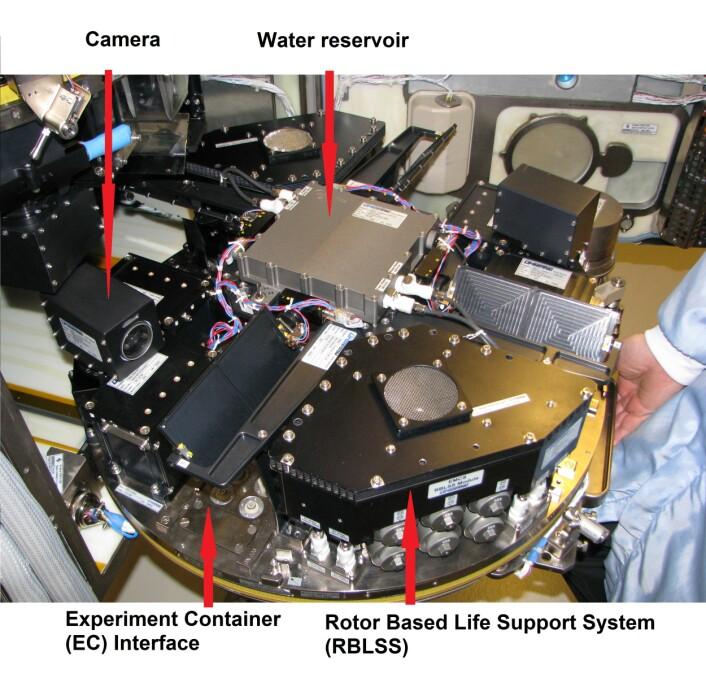 European Modular Cultivation System (EMCS-modulen), som nå skal oppgraderes i TIME SCALE-prosjektet. (Foto: CIRIS, NTNU)