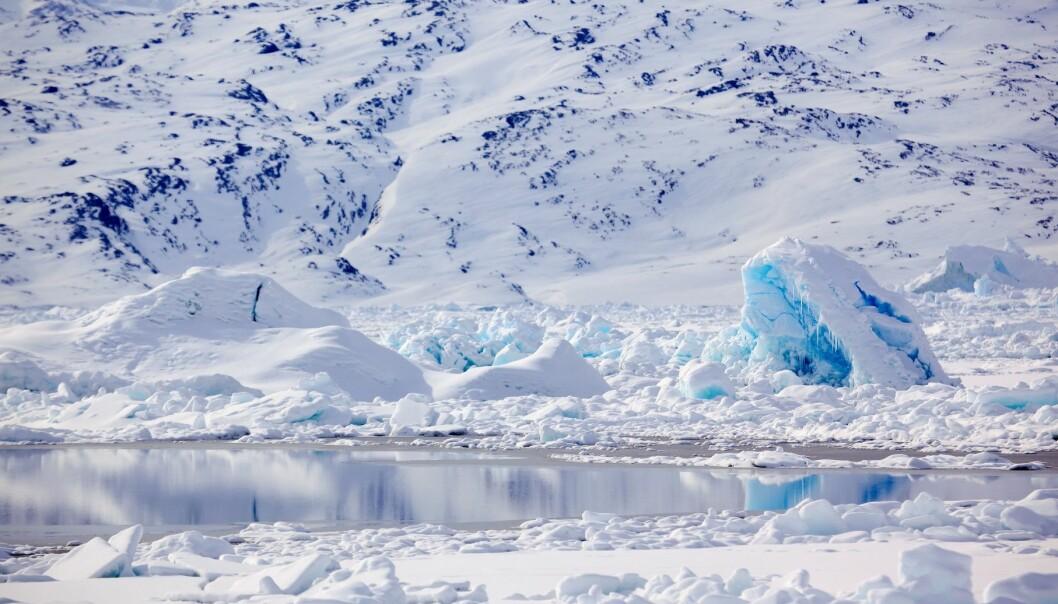 Fra en fjord på Øst-Grønland. (Foto: Colourbox)