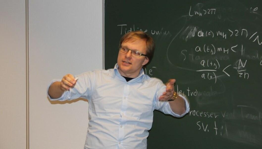 Professor Anders Tranberg ved Universitetet i Stavanger. (Foto: Kjersti Hetland/NRK)