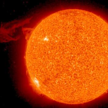 FNs klimapanel mener at det ikke kan være endringer i solen som er årsaken til den globale oppvarmingen. (Foto: NASA)