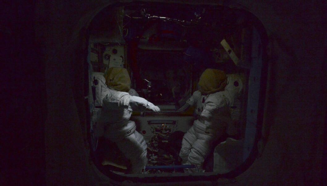Halloween-natt på romstasjonen