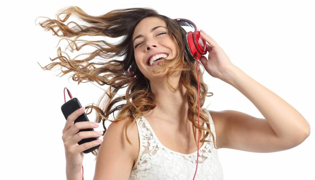 Ved å utnytte sensorene i smarttelefonen din, kan du etter hvert lage dine egne musikkuttrykk som er tilpasset humøret ditt. (Illustrasjonsfoto: Colourbox)