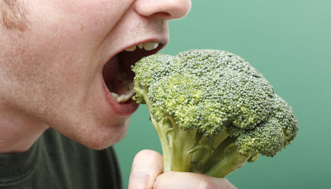 Danske, unge menn unngår grove grønnsaker som brokkoli.  (Foto: Microstock)