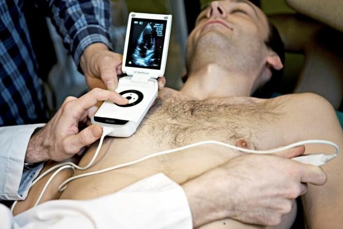 Ultralydundersøkelse av hjertet. (Foto: NTNU/Geir Mogen)