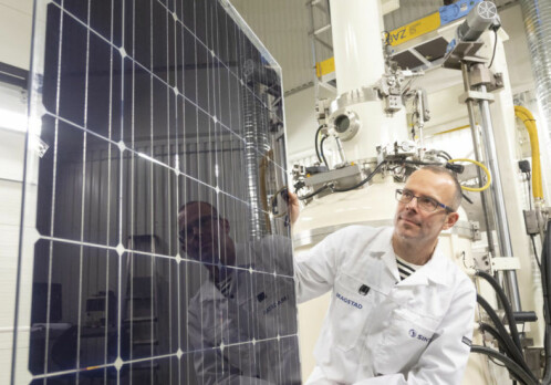 This solar panel is the first in the world to store both electricity and heat