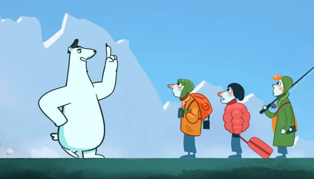 The polar bear give advice on how to protect the vulnerable Arctic environment.