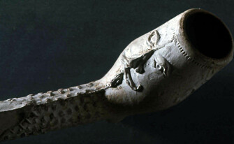 A clay pipe — called a Jonas pipe — from the 1600s. (Photo: Norwegian Directorate for Cultural Heritage)