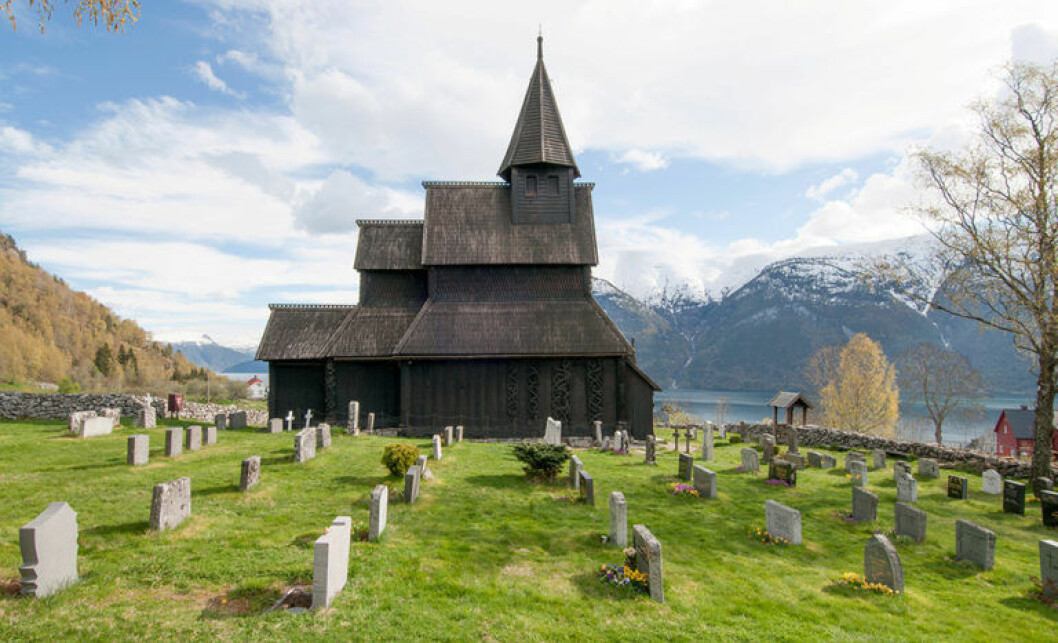 The oldest dated timber log in Urnes church had already begun to grow in 765. (Photo: Leif Anker, Directorate for Cultural Heritage)