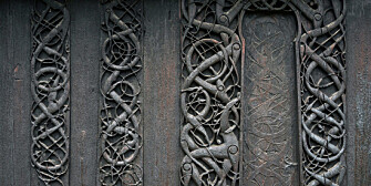 The Urnes stave church is unique because of its particularly fine wood carvings. (Foto: Lene Buskoven, Riksantikvaren)
