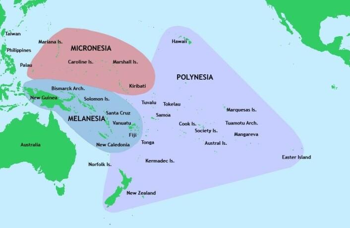Polynesia består av mer enn 1000 øyer, spredd utover det sørlige og midtre Stillehavet. (Foto: (Bilde: Offentlig eiendom))