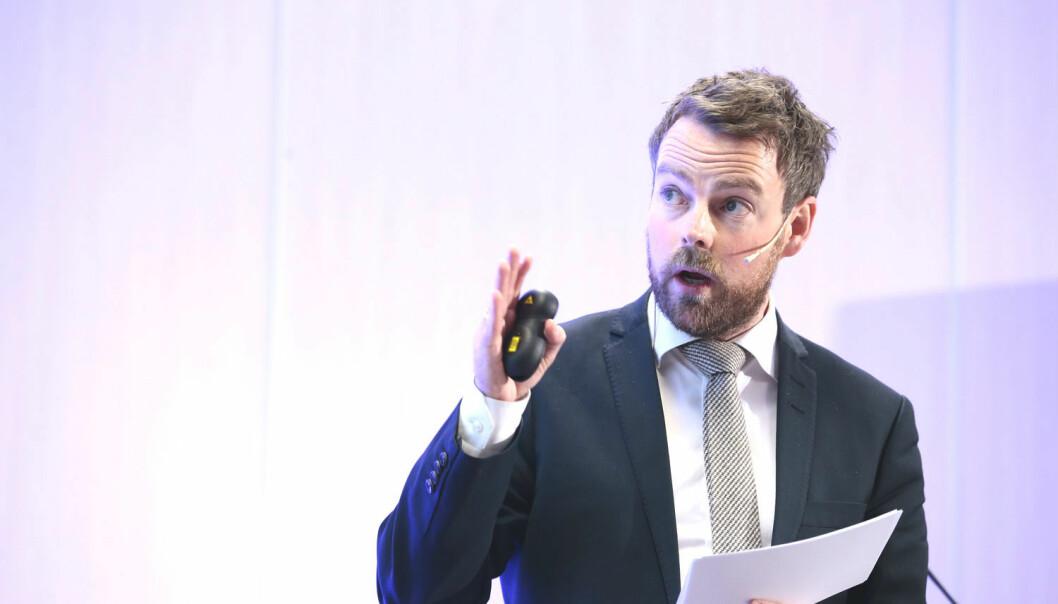 Kunnskapsminister Torbjørn Røe Isaksen overlater avgjørelsen til Stortinget hvorvidt utenlandske studenter skal betale skolepenger eller ei. (Foto: Foto: Håkon Mosvold Larsen, NTB scanpix)