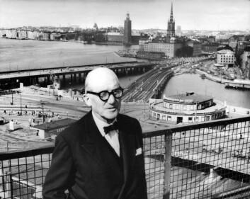 Le Corbusier på besøk i Stockholm i 1959. (Foto: MALMSTRÖM VICKE/Aftonbladet/IBL Bildbyrå)
