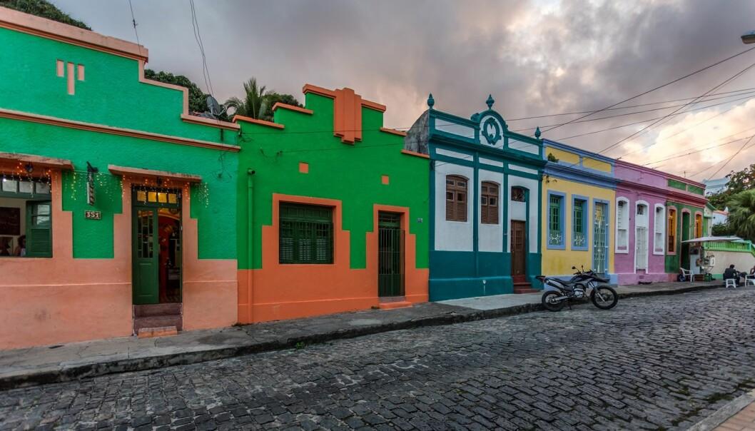 En fredelig dag i gamlebyen i Olinda i den brasilianske delstaten Pernambuco. (Foto: Colourbox)