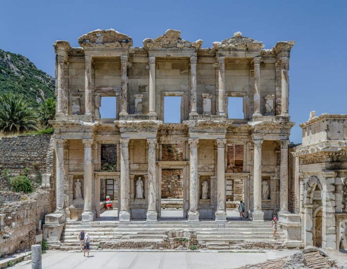Biblioteket i Efesos, i samme by som gladiatorgraven ligger. (Foto: Benh LIEU SONG/Creative Commons)