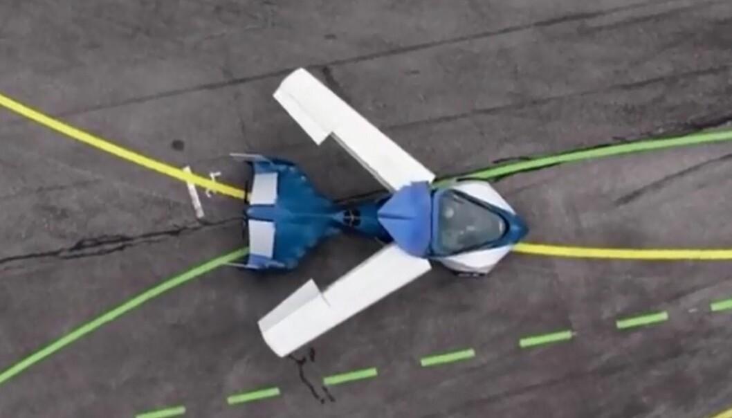 Her folder bilen ut sine vinger.  (Foto: aeromobil.com)