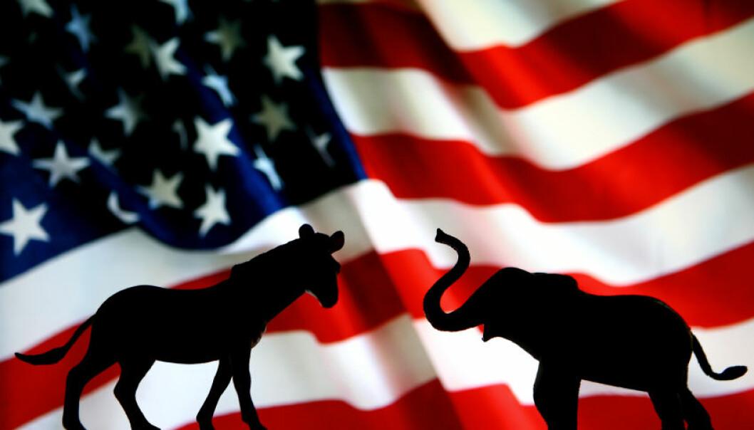 Politisk polarisering preger både politikk og dagligliv i USA. Splittelsen mellom venstre (Demokratene) og høyre (Republikanerne) er nå større enn målt noen gang tidligere.  Foto: iStock
