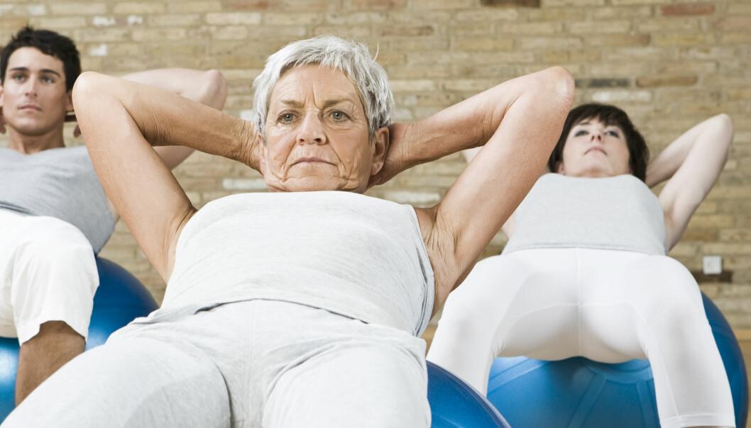 Fysisk aktivitet kan medføre en stor helsegevinst. Det er derfor viktig at eldre mennesker også finner tid til trening.  Illustrasjonsfoto: Colourbox