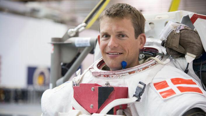 Andreas Mogensen, ESAs danske astronaut, blir skutt opp til romstasjonen 2. september 2015.  (Foto: ESA)