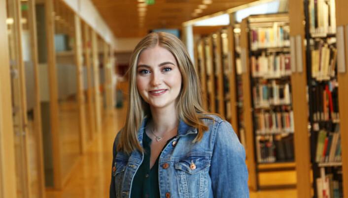 Helene Økland har samarbeidet med anerkjente forskere som en del av masterutdanningen ved USN. (Foto: Knut Jul Meland).