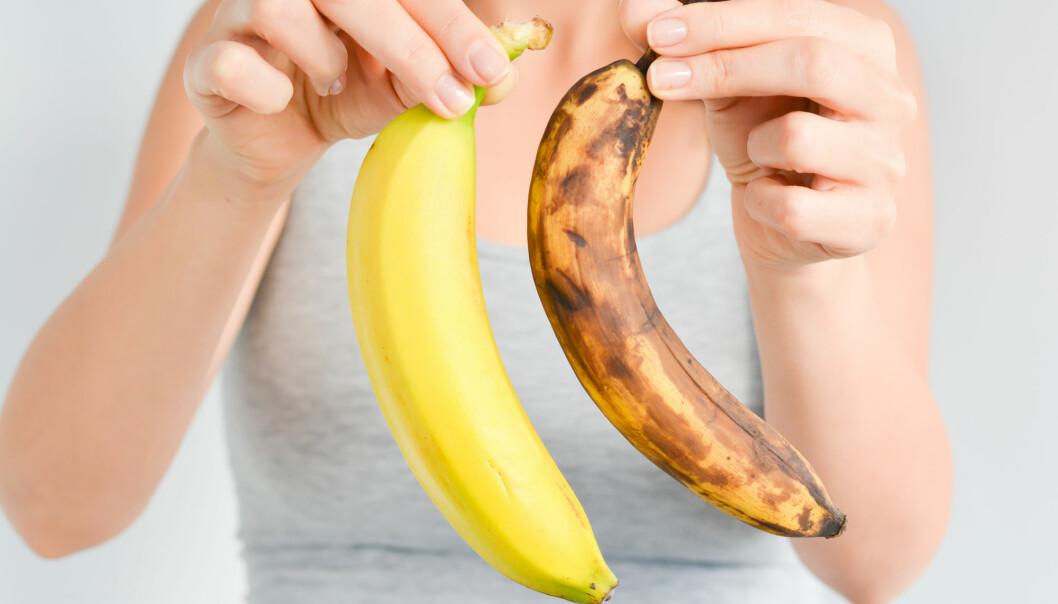 Ville du ha kjøpt bananen til høyre? Hva om den har på seg en solhatt og ligger på solseng? (Illustrasjonsfoto: Eviart / Shutterstock / NTB scanpix)