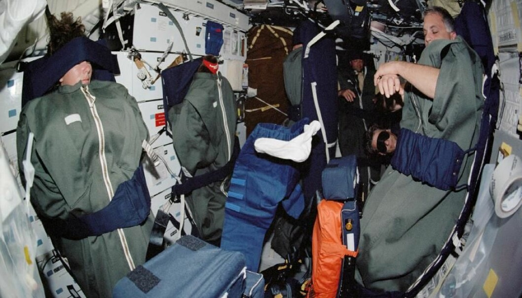 Sovende Astronauter i dag. Kan de sove hele veien til Mars? (Foto: NASA/JPL)