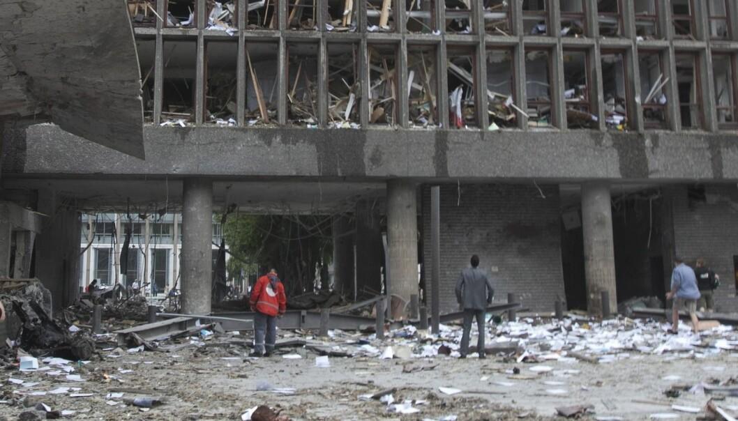 Forskere ved Nasjonalt kunnskapssenter om vold og traumatisk stress (NKVTS) har gjennomført tre datainnsamlinger blant de ansatte i regjeringskvartalet i etterkant av terrorangrepet den 22. juli 2011. (Foto: Scanpix, Morten Holm)