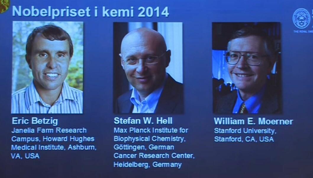 Nobelprisen i kjemi gis for superoppløst mikroskopi