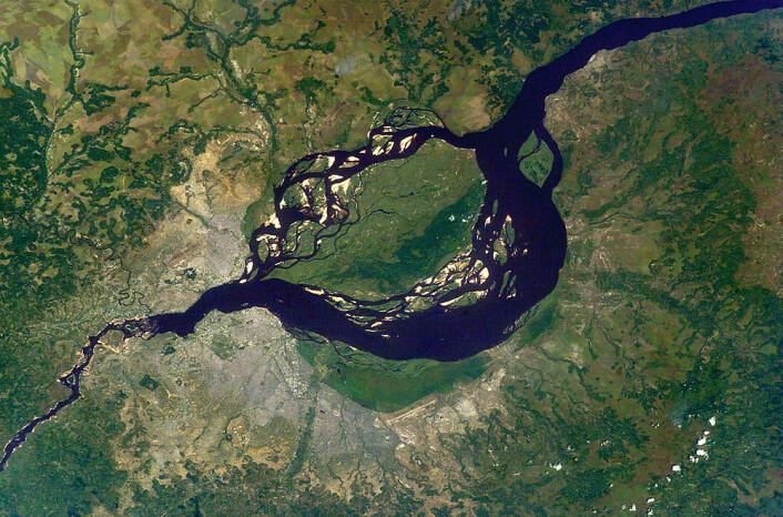 Dagens Kinshasa sett fra luften. (Foto: Offentlig eiendom)