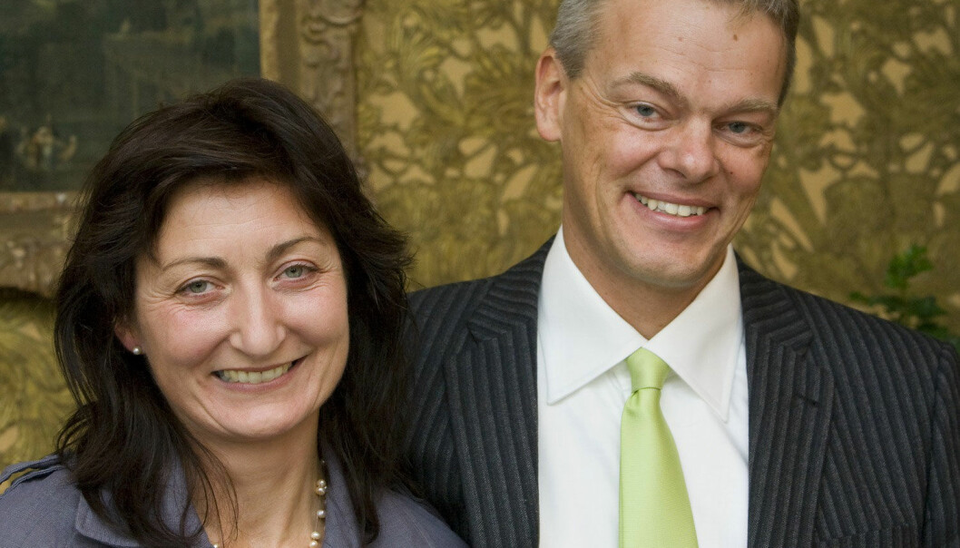 Forskerparet May-Britt Moser og Edvard Moser fra Norges Teknisk-Naturvitenskaplige Universitet i Trondheim. Her fra da de vant medisinprisen Stora Fernströmpriset i 2008. (Foto: NTB Scanpix)