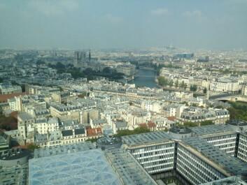 Paris fra møterommet hvor Governing Council i European Science Foundation møttes. (Foto: Stig Slørdahl)