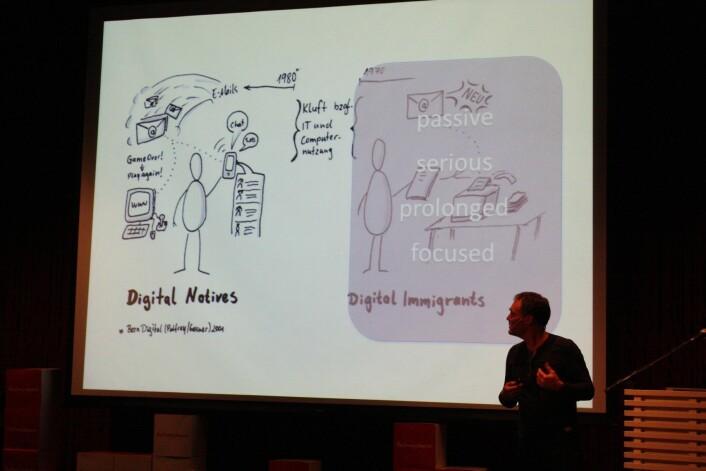 De digitale innfødte, som er født etter 1980, bruker sosiale medier til å utvikle sine kreative interesser, sier Øystein Gilje ved Institutt for pedagogikk ved Universitetet i Oslo. (Foto: Siv Haugan)