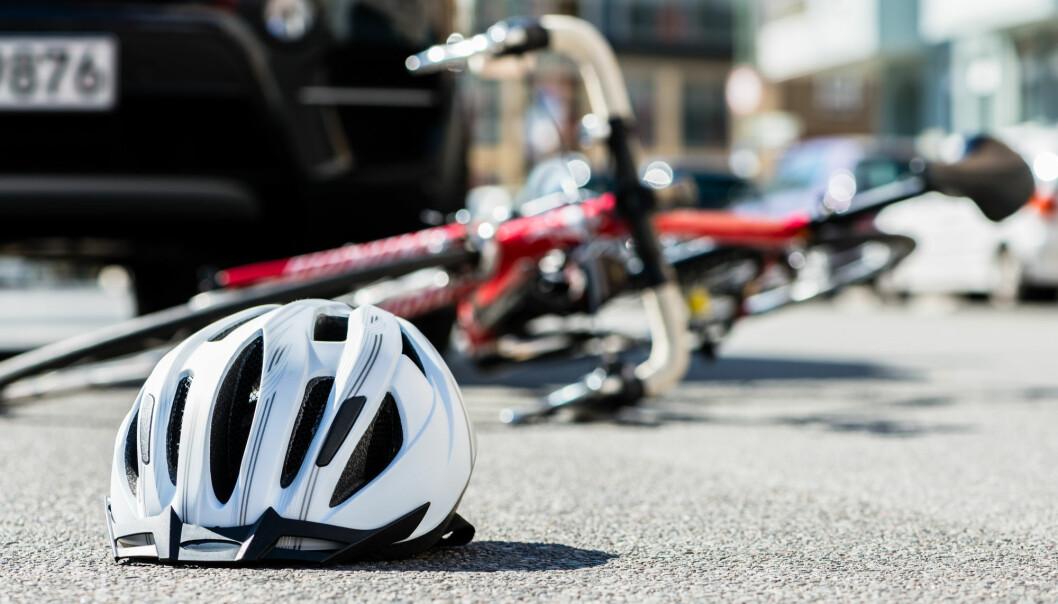 Bare 13 prosent av syklistene som havnet på sykehus i Kristiansand, hadde kollidert med bil, viser kartlegging over fire år. (Foto: Shutterstock)