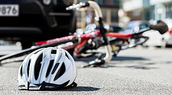 De fleste sykkelskader skjer uten at andre trafikanter er involvert