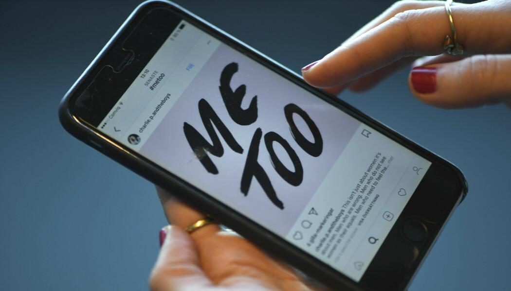 Metoo-kampanjen startet på Twitter og ble raskt en verdensomspennende bevegelse. Men i våre naboland Sverige og Danmark fikk kampanjen høyst ulik mottakelse, viser en ny rapport. (Foto: Fredrik Sandberg, TT, NTB scanpix)