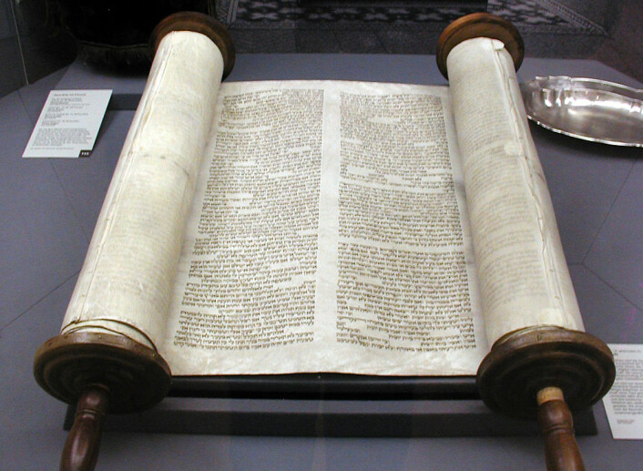 Torah i den gamle Glockenstrasse-synagogen i Köln i Tyskland. (Foto: Willy Horsch,Wikimedia Commons)