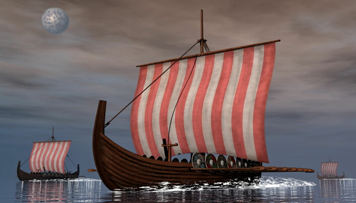 Vikingenes skipsteknologi gjorde det mulig for dem å reise langt for å plyndre og drive handel. (Illustrasjon: Elenarts / Shutterstock / NTB scanpix)