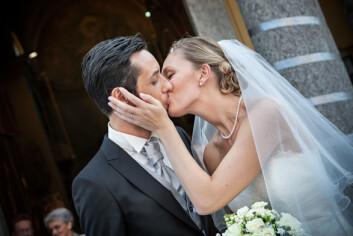Kyssing er også viktig etter man har bestemt seg for å beholde partneren. Men nå for knytte bånd.  (Foto: Microstock)
