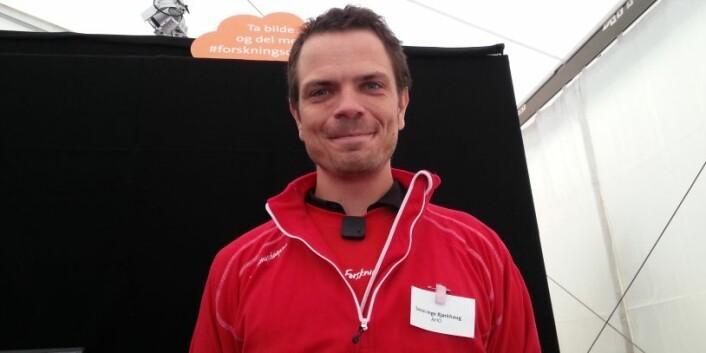 Sven-Inge på stand (Foto: Klas Montgomery)