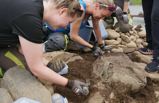 Roman bronze cauldron unearthed in central Norway burial cairn